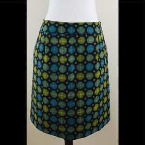 Boden Wool Skirt Size 6 Retro Mod Pattern a-line